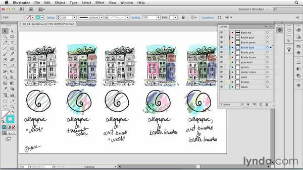 Overview: Artistic Painting with Illustrator: Natural Media Brushes