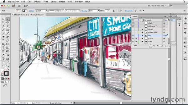Using vector editing tools: Artistic Painting with Illustrator: Natural Media Brushes
