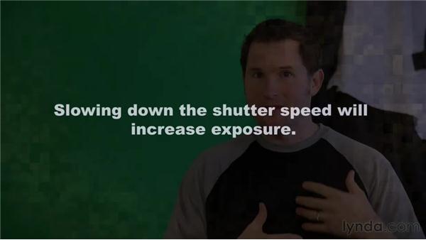 Understanding shutter speed: Up and Running with DSLR Filmmaking