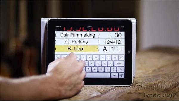 Using a clapperboard: Up and Running with DSLR Filmmaking
