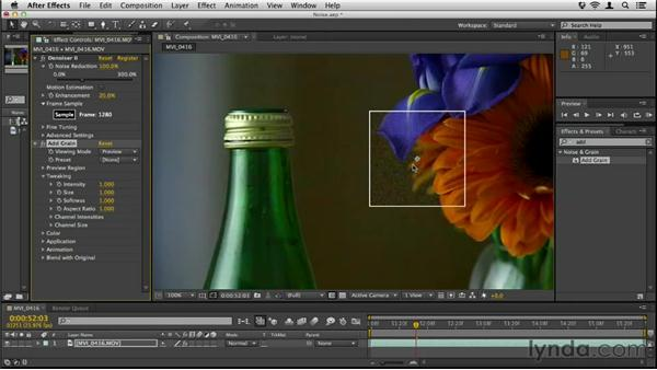 Cleaning up noise and adding grain: Up and Running with DSLR Filmmaking