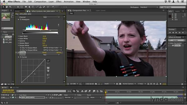 Color correcting footage: Up and Running with DSLR Filmmaking