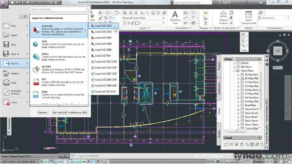 Exporting projects to AutoCAD to use in Revit: Migrating from AutoCAD to Revit