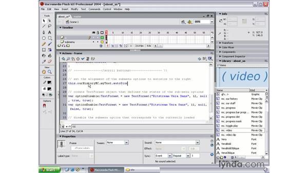 auto-size a text field: Flash MX 2004 Beyond the Basics