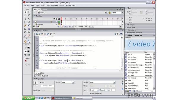 submenu rollover: Flash MX 2004 Beyond the Basics