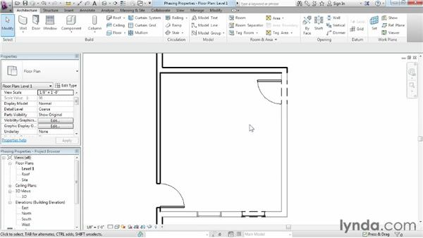 Assigning phasing properties to objects: Phasing and Design Options in Revit