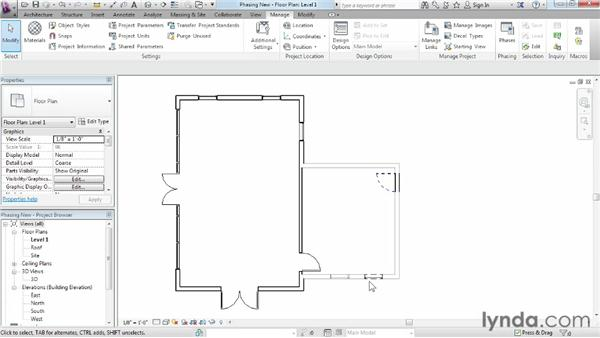 Adding a new phase: Phasing and Design Options in Revit