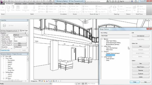 Managing design options: Phasing and Design Options in Revit