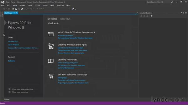 Setting up the Visual Studio 2012 development tools: Building a Windows Store Game Using HTML and JavaScript