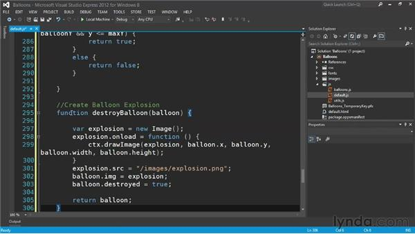 Adding touch to your game: Building a Windows Store Game Using HTML and JavaScript