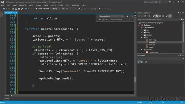 Adding scoring and leveling systems: Building a Windows Store Game Using HTML and JavaScript