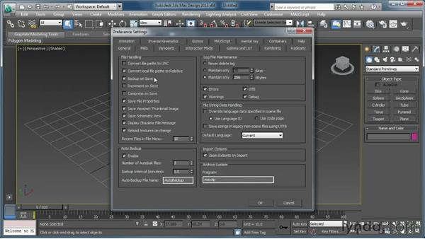 Setting up the 3ds Max project structure: Creating Simulations in MassFX and 3ds Max