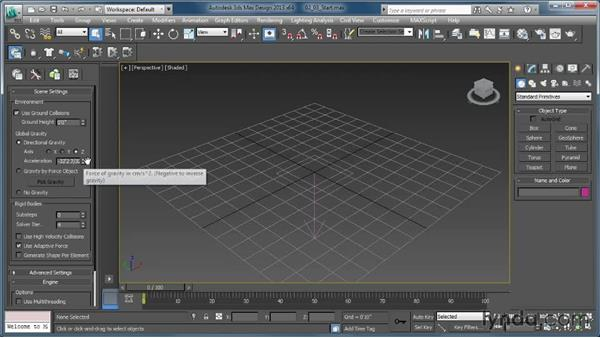 Discovering ground collision and gravity: Creating Simulations in MassFX and 3ds Max