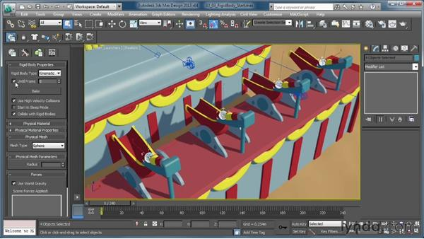 Setting up the drop system: Creating Simulations in MassFX and 3ds Max