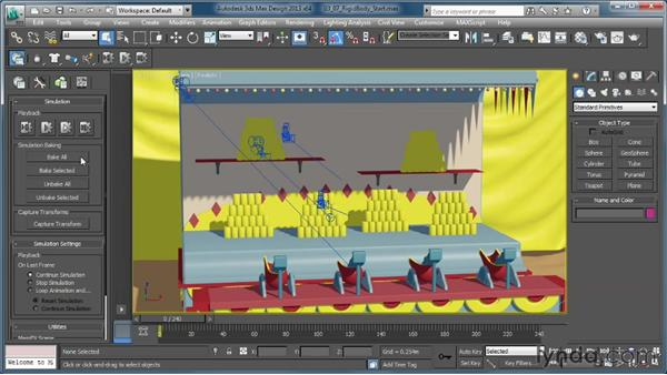 Baking out the simulation for rendering: Creating Simulations in MassFX and 3ds Max