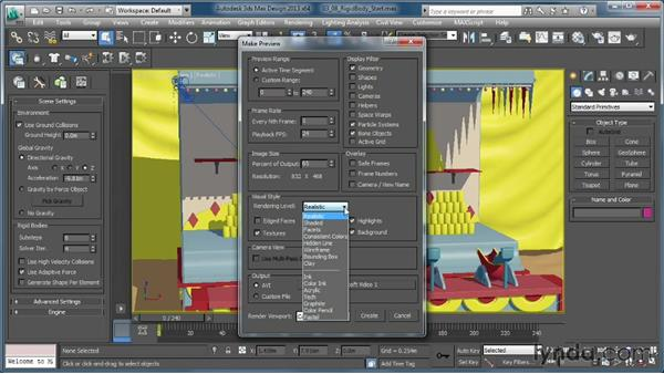 Reviewing the simulation with an animation sequence: Creating Simulations in MassFX and 3ds Max
