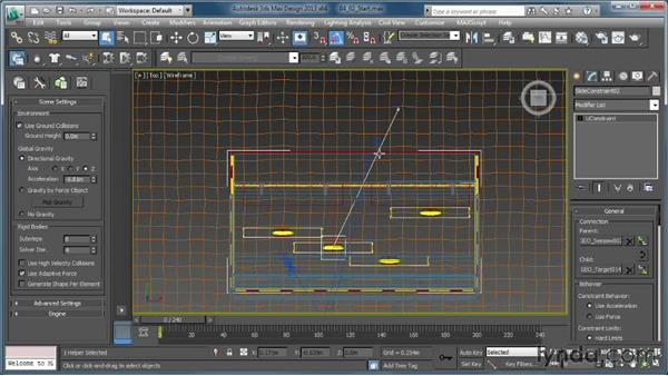 Creating a moving target with the Slide constraint: Creating Simulations in MassFX and 3ds Max