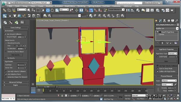 Creating springy targets with the Hinge constraint: Creating Simulations in MassFX and 3ds Max
