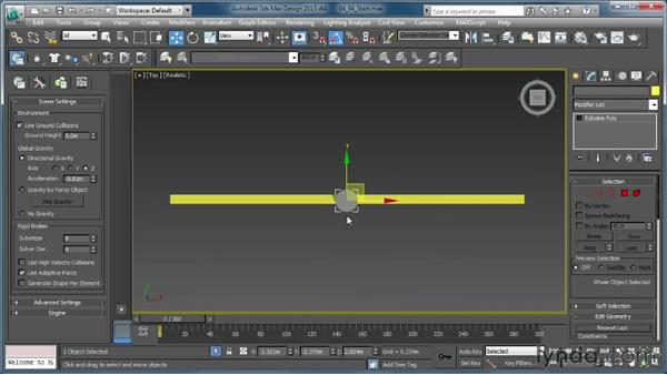 Spinning targets using the Twist constraint: Creating Simulations in MassFX and 3ds Max