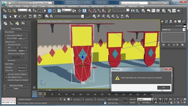 Creating crazy targets with the Ball & Socket constraint: Creating Simulations in MassFX and 3ds Max