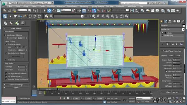 Putting a rip in mCloth: Creating Simulations in MassFX and 3ds Max