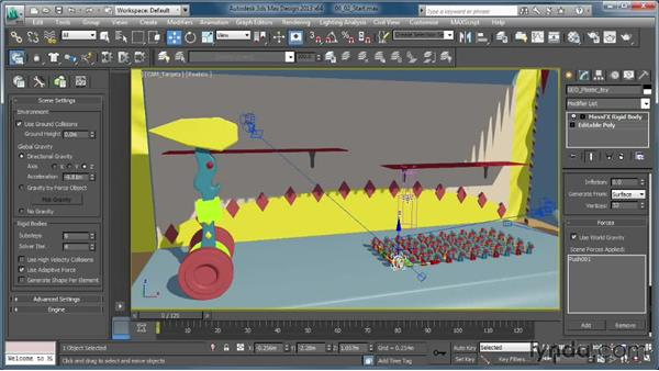 Putting forces to practical use: Creating Simulations in MassFX and 3ds Max