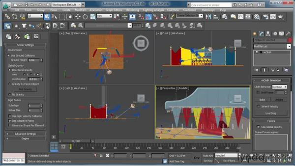 Using forces with mCloth: Creating Simulations in MassFX and 3ds Max