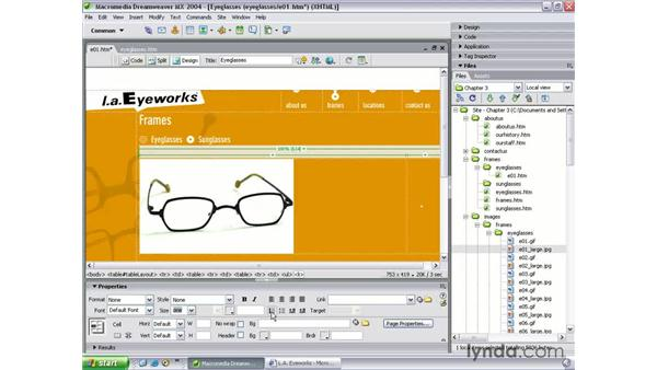 building the details pages: Dreamweaver MX 2004 Beyond the Basics