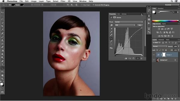 Working on color, contrast, and tone: Photoshop Retouching Techniques: Beauty Portraits