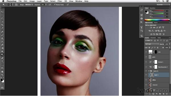 Refining the eyebrow: Photoshop Retouching Techniques: Beauty Portraits