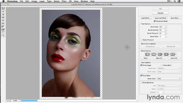 Doing an overall pass on the image for shape: Photoshop Retouching Techniques: Beauty Portraits