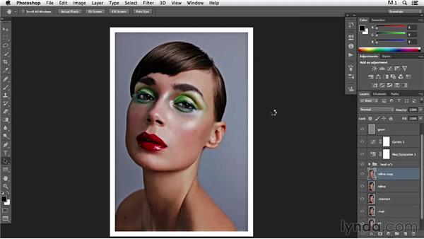 Reviewing the image for the last refinements to pop the details: Photoshop Retouching Techniques: Beauty Portraits