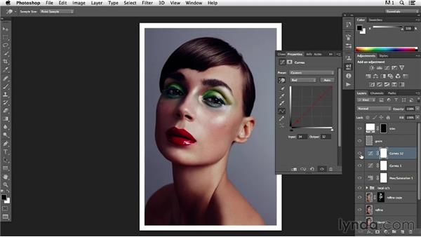 Finalizing the color in an image: Photoshop Retouching Techniques: Beauty Portraits