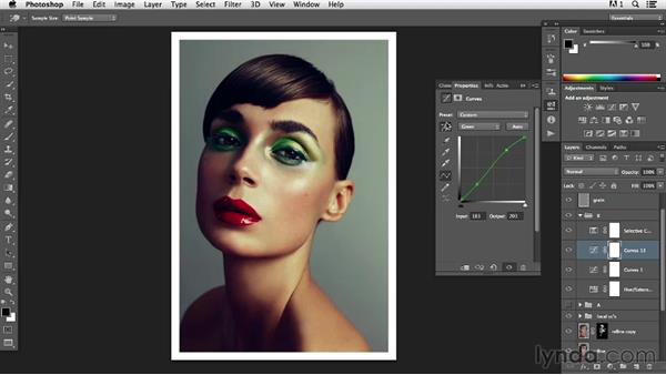 Reviewing the color options for an image: Photoshop Retouching Techniques: Beauty Portraits