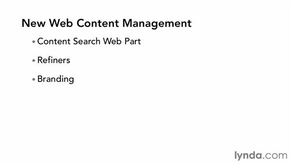 Authoring web content: SharePoint 2013 New Features