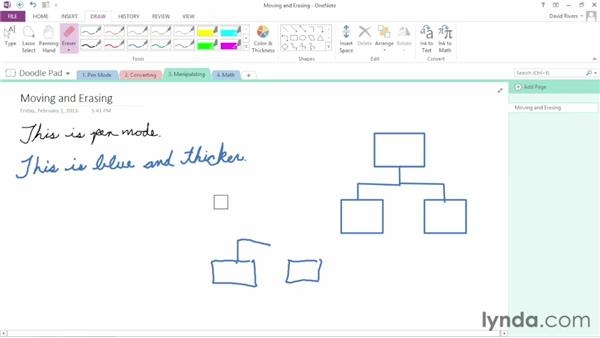 Manipulating written notes and drawings: OneNote 2013 Essential Training