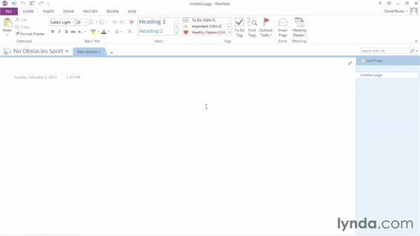 Creating a shared notebook: OneNote 2013 Essential Training