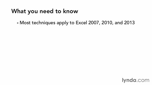 What you should know before watching this course: Excel 2013 Power Shortcuts