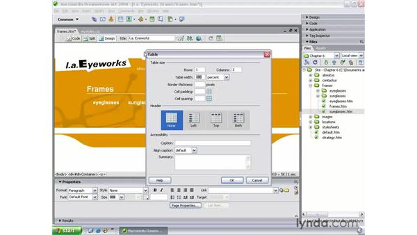 building the listings page: Dreamweaver MX 2004 Beyond the Basics