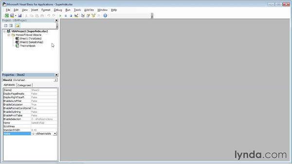 Super-hiding worksheets: Excel 2013 Power Shortcuts