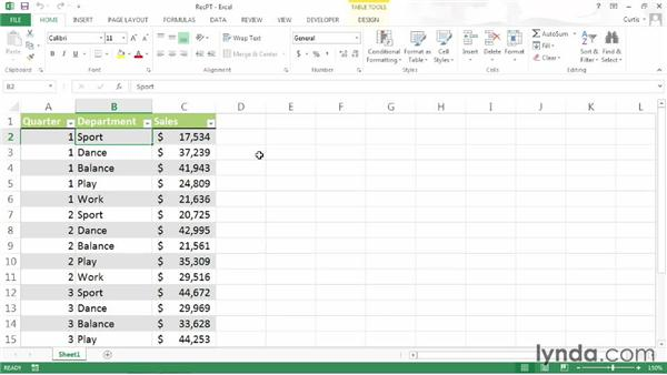 Creating recommended PivotTables: Excel 2013 Power Shortcuts