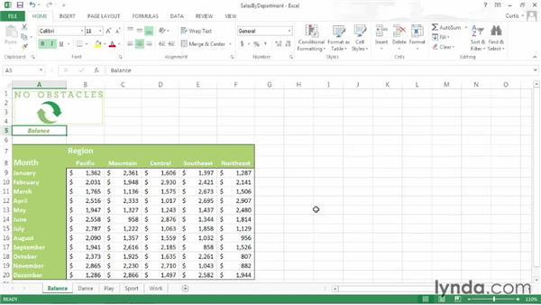 Moving among worksheets quickly: Excel 2013 Power Shortcuts