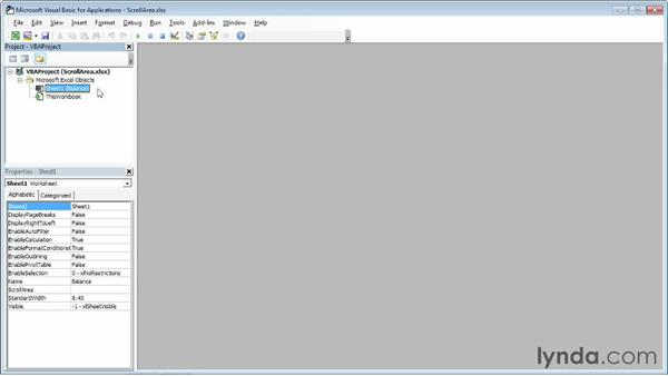 Limiting a worksheet's scroll area: Excel 2013 Power Shortcuts
