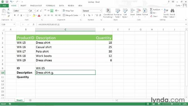 Using INDEX and MATCH to look up data without using the left-most column: Excel 2013 Power Shortcuts