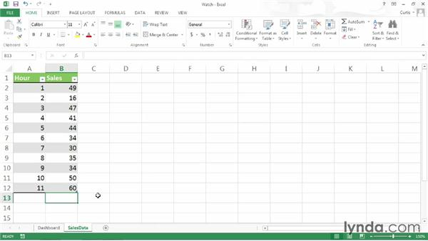 Watching a cell's value: Excel 2013 Power Shortcuts