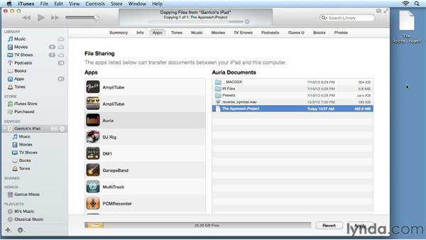Understanding the file management system: iPad Music Production: Auria