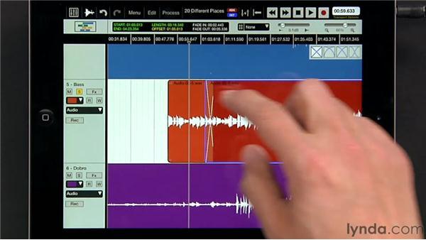 Crossfading regions: iPad Music Production: Auria