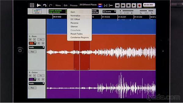 Understanding destructive processing options: iPad Music Production: Auria