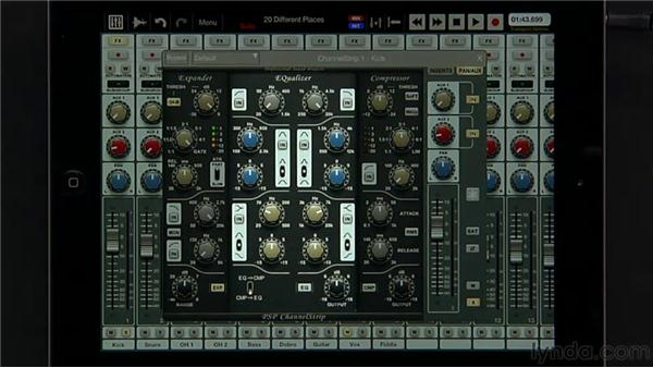 Working with the PSP ChannelStrip: iPad Music Production: Auria