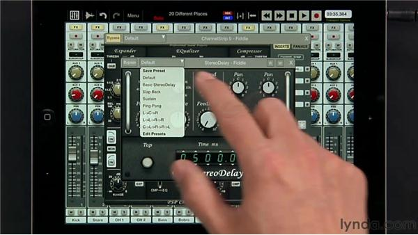 Using inserts and plugins: iPad Music Production: Auria